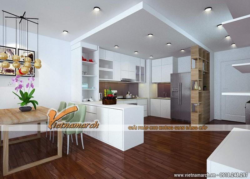 Thiết kế nội thất chung cư căn hộ T4 - 2211 nhà chị Hà.01