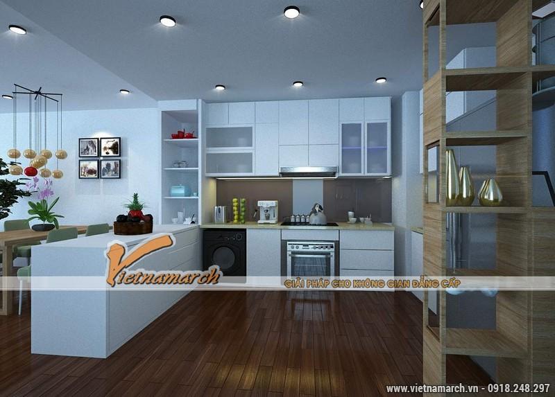 Thiết kế nội thất chung cư căn hộ T4 - 2211 nhà chị Hà.02