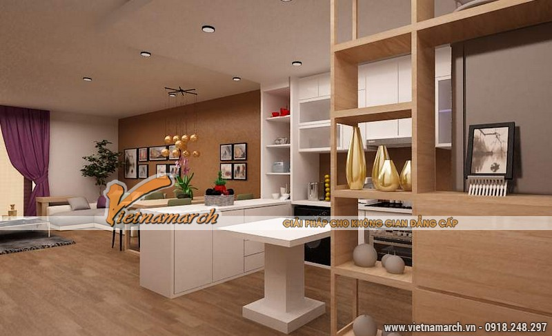 Thiết kế nội thất chung cư căn hộ T4 - 2211 nhà chị Hà.03