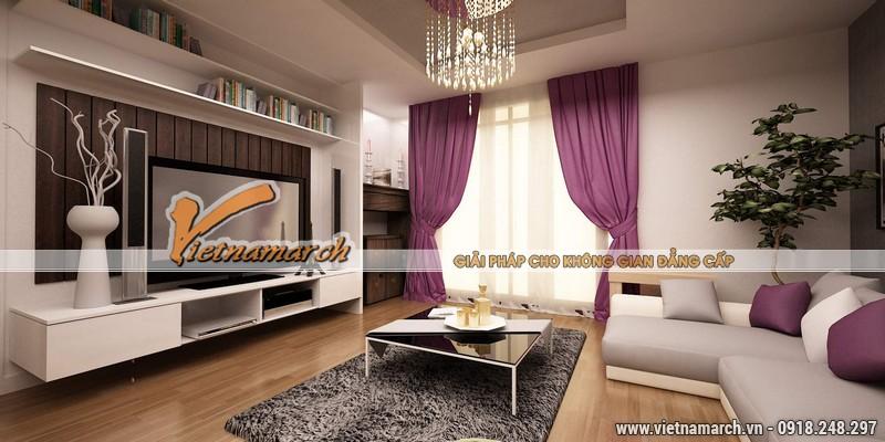 Thiết kế nội thất chung cư căn hộ T4 - 2211 nhà chị Hà.10