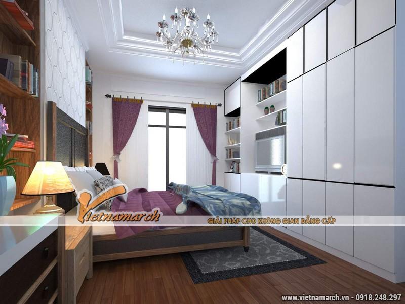 Thiết kế nội thất chung cư căn hộ T4 - 2211 nhà chị Hà.12