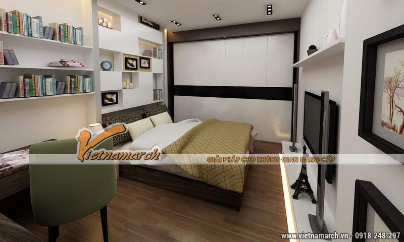 Thiết kế nội thất chung cư căn hộ T4 - 2211 nhà chị Hà.14