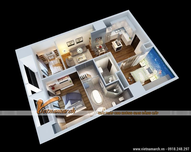 Thiết kế nội thất chung cư Times City căn hộ T2-1518 nhà chi Trang 01
