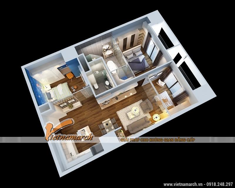 Thiết kế nội thất chung cư Times City căn hộ T2-1518 nhà chi Trang 02