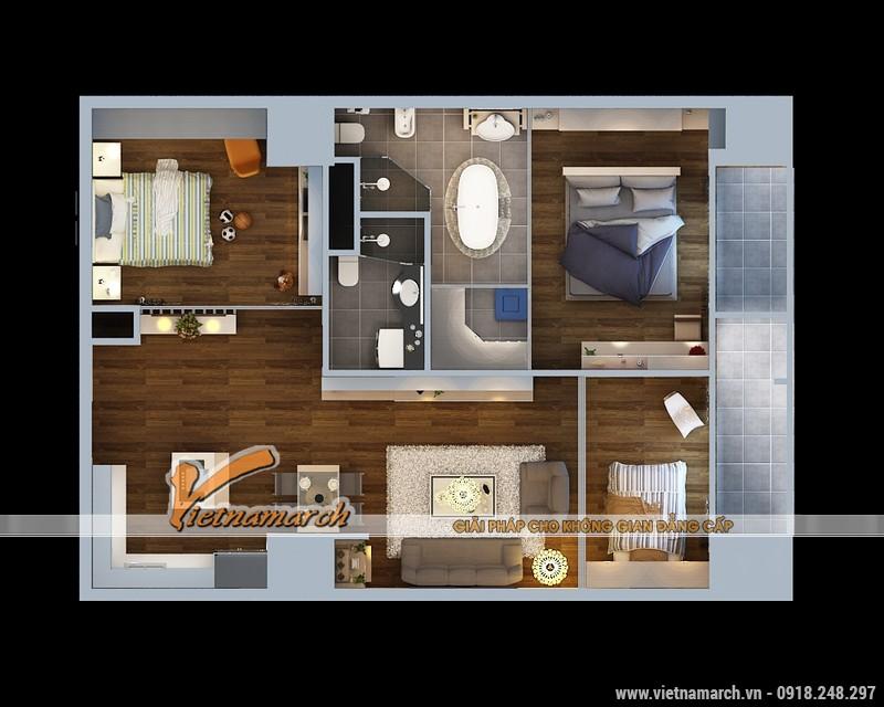 Thiết kế nội thất chung cư Times City căn hộ T2-1518 nhà chi Trang 03