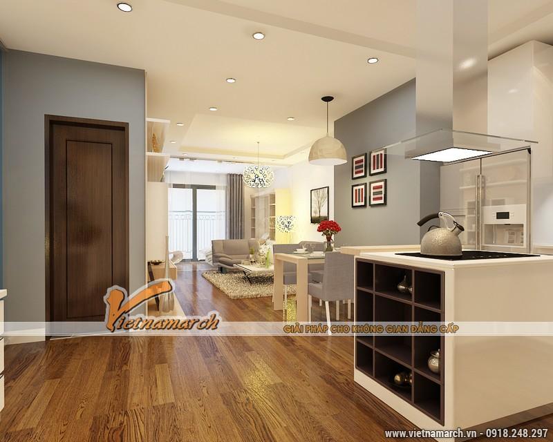 Thiết kế nội thất chung cư Times City căn hộ T2-1518 nhà chi Trang 09