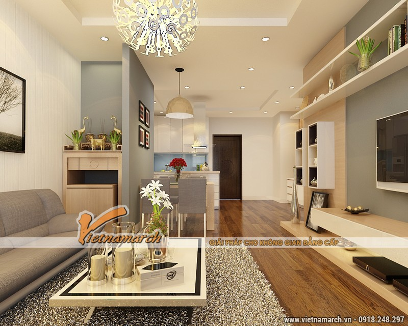 Thiết kế nội thất chung cư Times City căn hộ T2-1518 nhà chi Trang 05