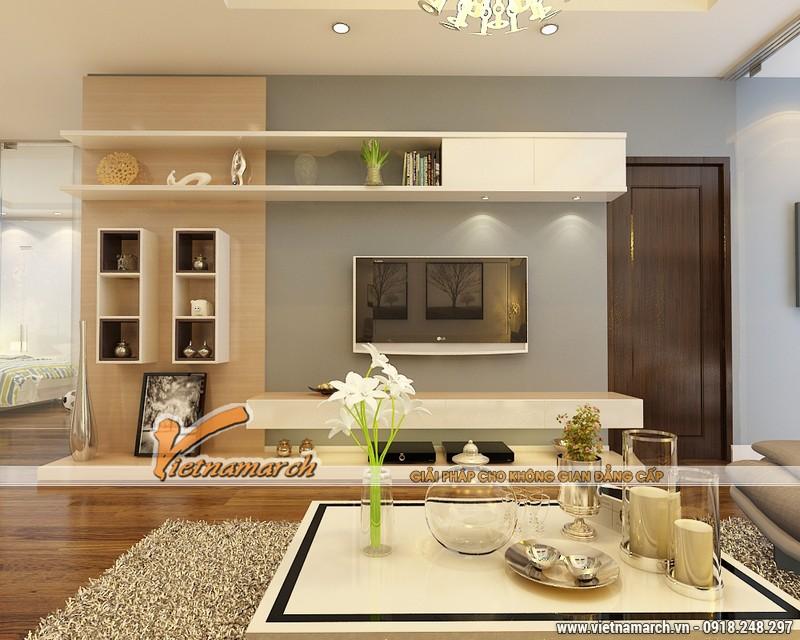 Thiết kế nội thất chung cư Times City căn hộ T2-1518 nhà chi Trang 06