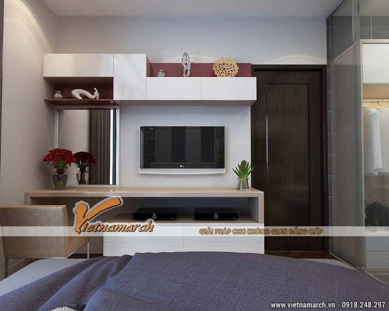Thiết kế nội thất chung cư Times City căn hộ T2-1518 nhà chi Trang 11